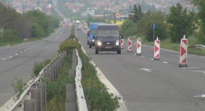 До 22 юли движението при входа на Бургас ще е само в едното платно
