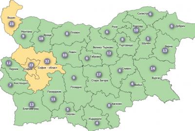 3 области остават в жълтата зона на COVID-19