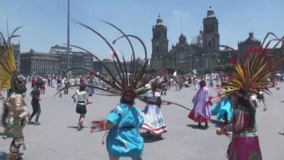 Мексико отбеляза годишнината на древната столица на ацтеките