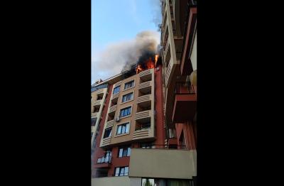 """Пожар горя в столичния квартал """"Дружба 2"""" (Видео, снимки)"""