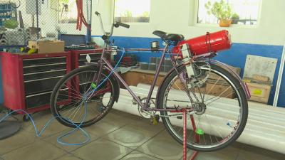16-годишно момиче създаде колело, задвижващо се от въздуха