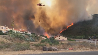 Италия поиска помощ от ЕС за огромния пожар на остров Сардиния