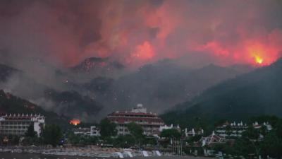 Международна помощ за Турция в борбата с огнената стихия