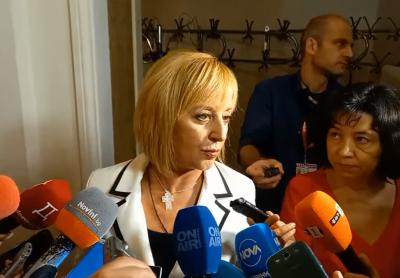 Манолова: До края на парламентарната процедура ще имаме решение относно кабинета