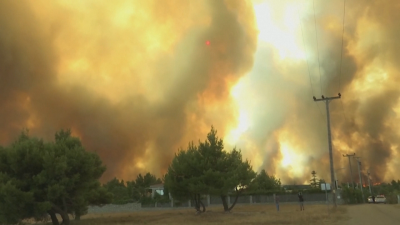 Силният вятър разпали нови пожари в Гърция и взе жертва