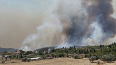 Продължава борбата с огнената стихия в Турция