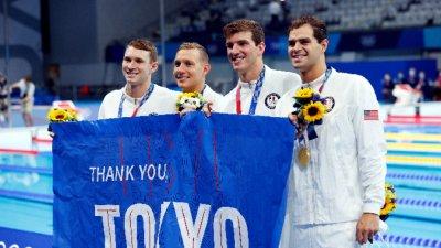 Щафетата на Америка на 4 по 100 метра съчетано плуване подобри световния рекорд