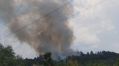 Мълния предизвика голям горски пожар край Павел баня