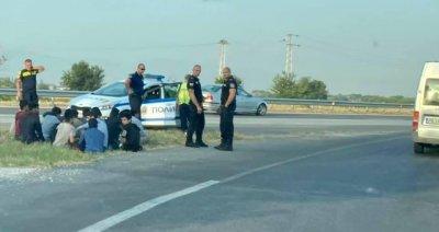 Задържани са 20 мигранти в Пловдивско