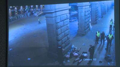 Насилие на протеста през 2020: Показаха неизлъчвани кадри от камери под колоните на МС