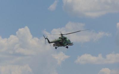 """Вертолет """"Кугар"""" помага за гасенето на пожар в района на Мусаленската пътека в Рила"""