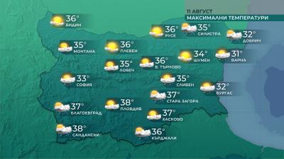 Горещо време и днес, от петък ни очаква слабо захлаждане