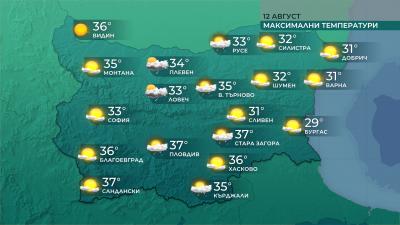 По-малко горещо време ни очаква утре