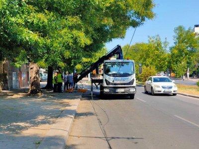 Инцидент със скъсани тролейбусни жици в Пловдив