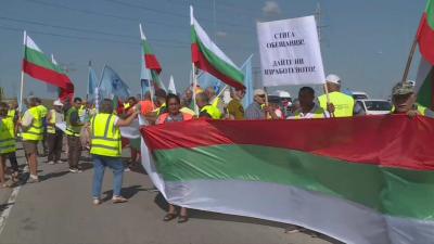 "Работници на ""Автомагистрали - Черно море"" протестират в Шумен, Русе и Бургас"