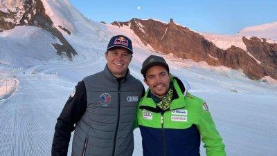 Алберт Попов с успешен лагер в Швейцария, тренира с най-добрите алпийци в света