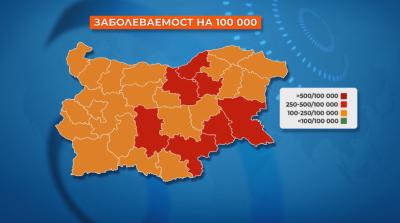 7 области вече са в червената ковид зона, във Велико Търново решават за мерките