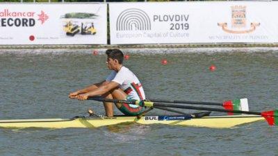 Лазар Пенев донесе на България първо злато от Европейското по гребане за младежи
