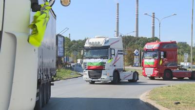 """Превозвачи на протест - блокираха граничния пункт """"Дунав мост"""" при Русе"""