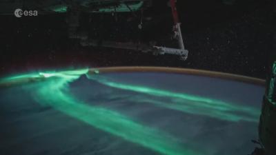 Как изглежда Северното сияние от Космоса