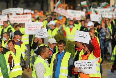 Пътни фирми излязоха на протест, Асен Василев предложи вариант за разплащане