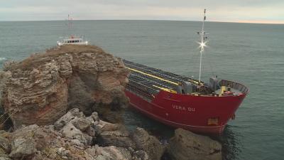 Няма опасност от разлив на гориво от заседналия край Яйлата кораб
