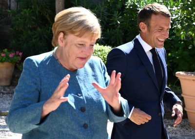Прощална среща Меркел - Макрон