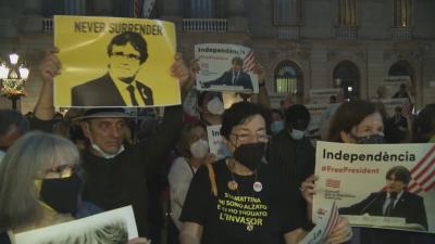 Протест в Барселона: Искане за освобождаването на Пучдемон