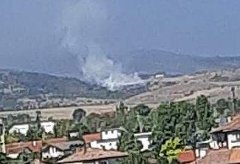 Гори закритото сметище в село Радловци край Кюстендил