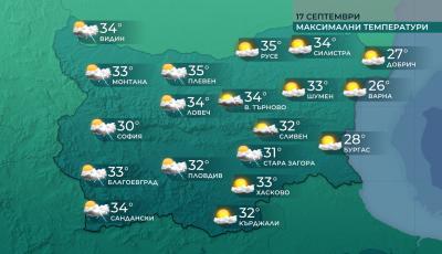 Горещо време днес, от утре захлаждане