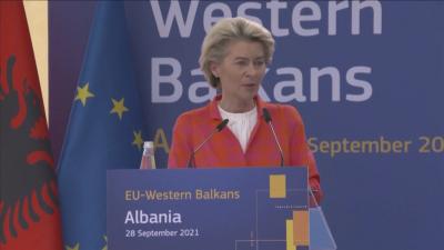 Урсула фон дер Лайен започва обиколка на Западните Балкани