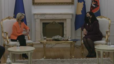 Урсула фон дер Лайен призова за деескалация на напрежението между Сърбия и Косово