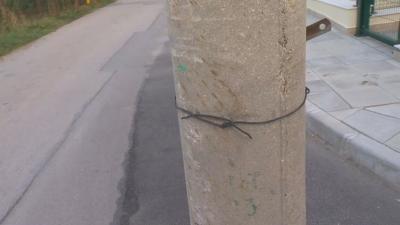 """Как електрически стълб се озова по средата на улица в столичния квартал """"Драгалевци""""?"""
