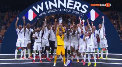 Франция обърна Испания и триумфира в Лигата на нациите
