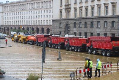 Глоби за шофьорите на тежки камиони от протеста на пътностроителните фирми