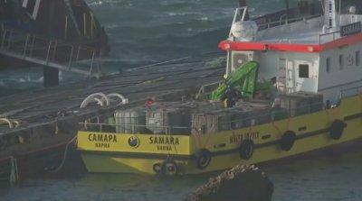"""Баржите за разтоваването на """"Вера Су"""" все още не са пристигнали в района на кораба"""