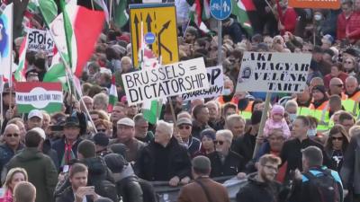Предизборни митинги в Будапеща: Виктор Орбан срещу Петер Марки-Зай