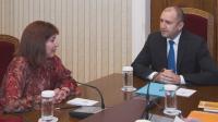 Президентът Радев се срещна с главния инспектор в Инспектората към Висшия съдебен съвет