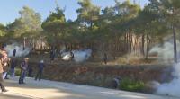 Сблъсъци между полиция и протестиращи на остров Лесбос
