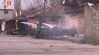 Пожар горя в района на Сточна гара във Варна