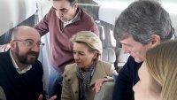 снимка 2 Лидерите на ЕС и Мицотакис оглеждат границата между Гърция и Турция от хеликоптер