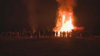 Близо 15-метров огън запалиха в русенското село Сандрово
