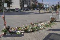 Почит към Милен Цветков на мястото на катастрофата