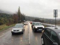 """снимка 3 10 км опашка от коли чака да влезе в София през АМ """"Тракия"""""""