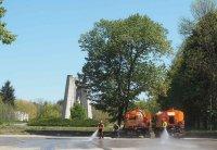 Измиха и дезинфекцираха Северния парк в Разград