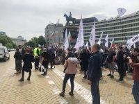 """снимка 1 Протест на партия """"Възраждане"""" пред парламента (Видео, снимки)"""