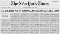 """""""Ню Йорк таймс"""" със стряскащо провокативна корица заради Covid-19"""