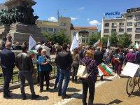 """снимка 8 Протест на Мая Манолова и """"Системата ни убива"""" срещу управляващите"""
