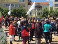 """снимка 1 Протест на Мая Манолова и """"Системата ни убива"""" срещу управляващите"""