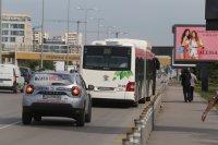 """снимка 1 Снимки от катастрофата на """"Цариградско"""": Разпилени части от мотора, ударен автобус"""